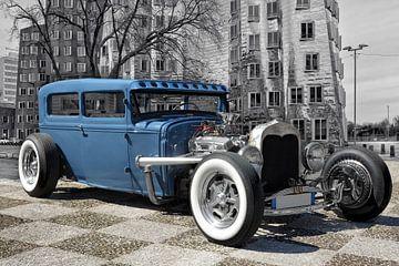 Blauer Hot Rod von Joachim G. Pinkawa