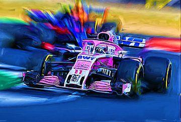 SERGIO PEREZ - British Grand Prix 2018 van Jean-Louis Glineur alias DeVerviers
