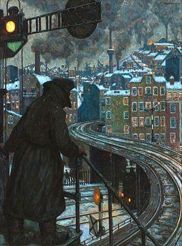 Arbeidersstad - Hans Baluschek, 1920 van Atelier Liesjes