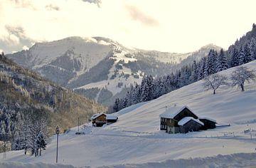 Winterlandschaft im Allgäu sur Renate Knapp