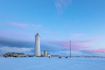 Vuurtoren in de sneeuw van Tilo Grellmann | Photography