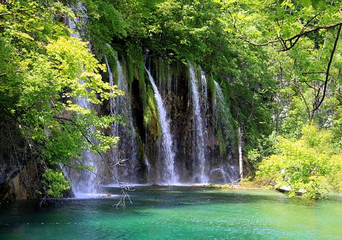 Wasserfälle im Nationalpark Plitvicer Seen, Kroatien van