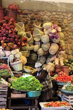 Boliviaanse markt van Marieke Funke
