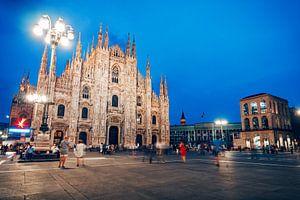 Kathedraal van Milaan / Piazza del Duomo van Alexander Voss