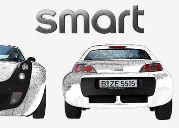 SMART Roadster in grafiet wit van aRi F. Huber