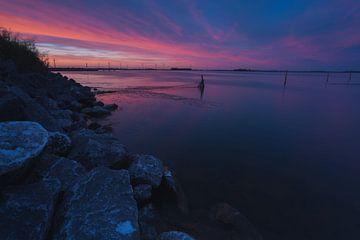 Sonnenuntergang in Zeewolde von Robin van Maanen