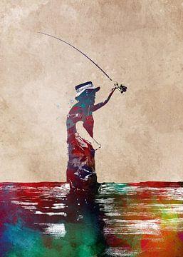 Angeln 3 sport art #fishing von JBJart Justyna Jaszke