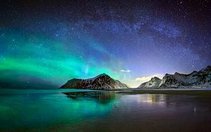 Aurora over Skagsanden van