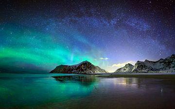Aurora over Skagsanden van wim denijs