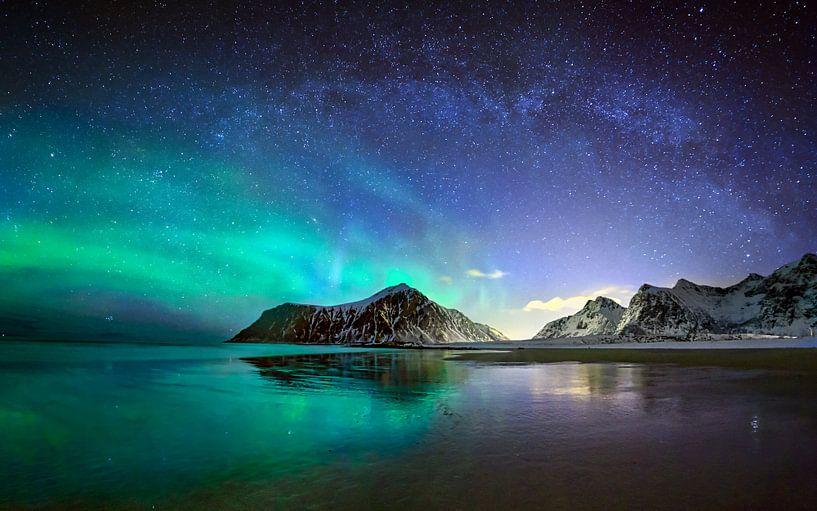 Aurora over Skagsanden  von wim denijs