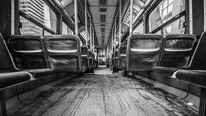 Oude bus interieur