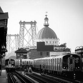 New York City Subway in Brooklyn van Sascha Kilmer