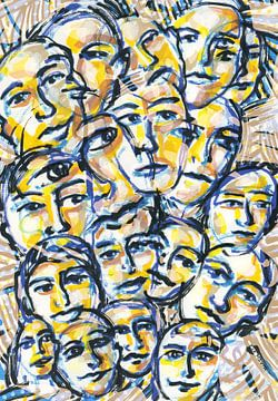 Menschenmenge  von ART Eva Maria