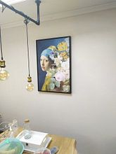 Kundenfoto: Girl with the Pearl Earring - The Floral Edition II von Marja van den Hurk, auf leinwand