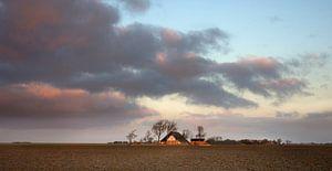 Avond in de Noordpolder van Groningen