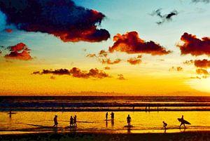 Bali Kutabeach. van