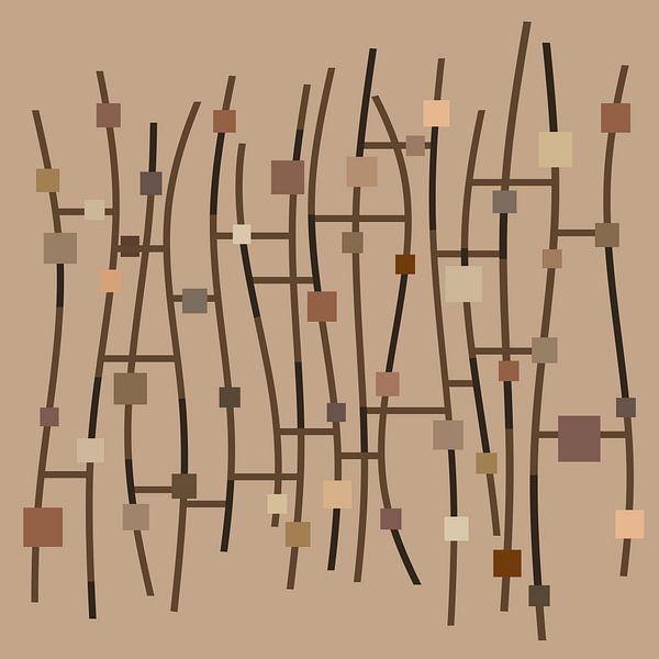 Composition Abstraite 698 van Angel Estevez