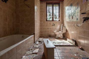 Vandalised bathroom van Andrew van der Beek