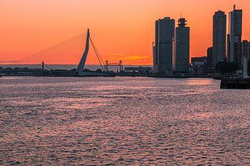 Zonsopgang Rotterdam van AdV Photography