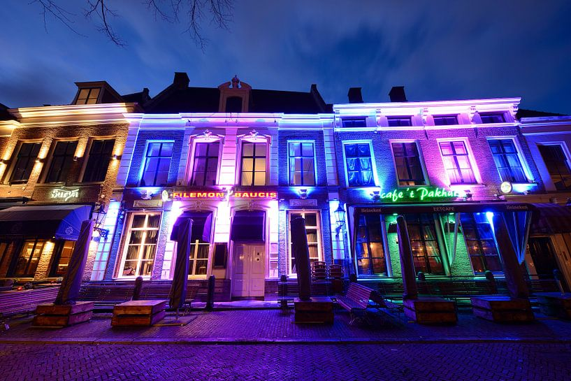 Surya Restaurant, Club Filemon & Baucis, Feestcafé 't Pakhuis aan het Janskerkhof in Utrecht van Donker Utrecht