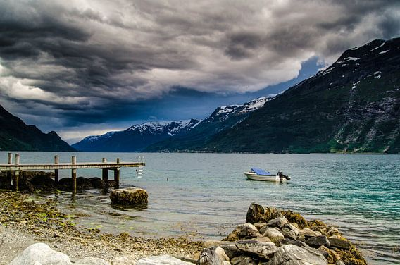 Sørfjorden, Noorwegen van Ricardo Bouman | Fotografie
