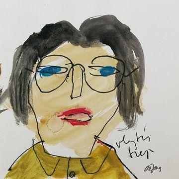 Anita, portret, avatar von Leo de Jong