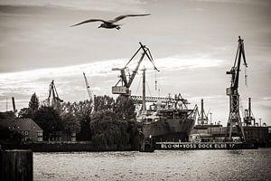 Hamburg Harbour (Black and White)
