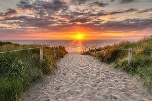 Zonsondergang Texel, nabij De Koog