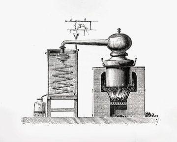 Ets distillatie kolom van Peter Hermus