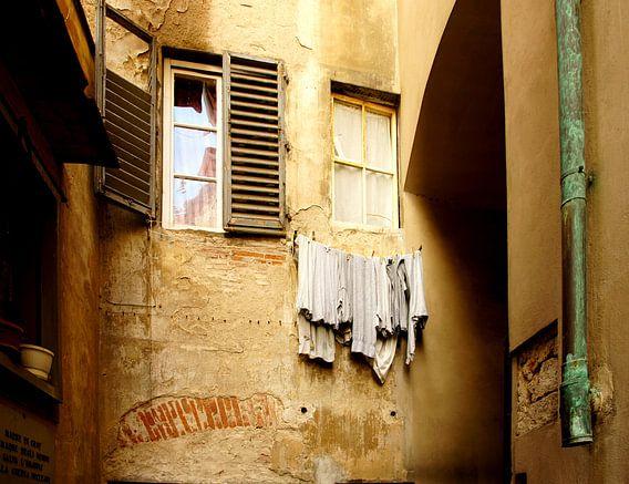 Straatje in Florence van C.A. Maas