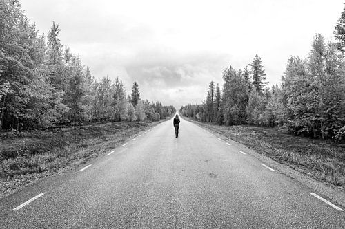 Lopen op een eindeloze weg