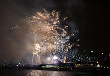 nieuwjaars vuurwerk Rotterdam van Renée Teunis