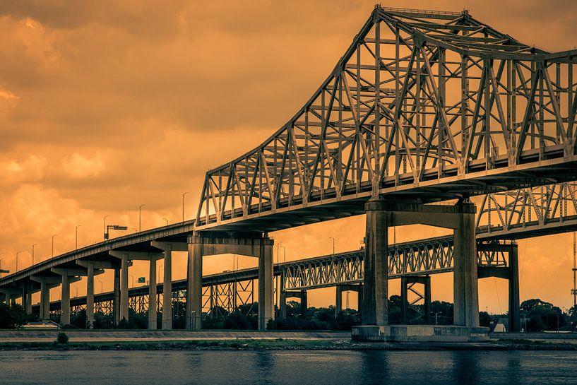 Greater New Orleans Bridge van Mrs van Aalst