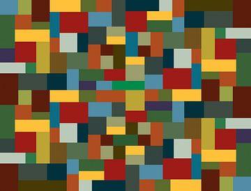 Blokjes mozaiek van Jolanta Mayerberg