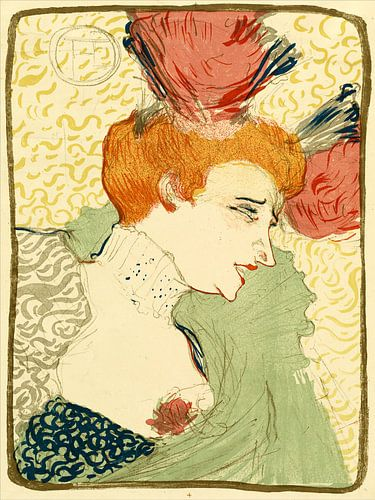 Büste von Fräulein Marcelle Lender, Henri de Toulouse - Lautrec von Liszt Collection